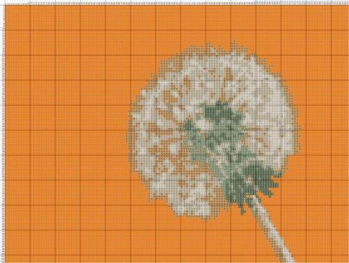 Размер 25 х 20 см (плотность 4 крестика на 1 см). Цветную крупную схему вышивки крестом можно скачать бесплатно без...