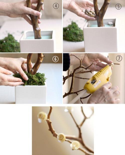 Как сделать дерево искусственное своими руками