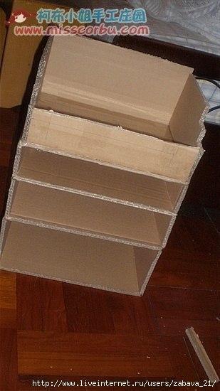 Тумбочка из коробки своими руками 98