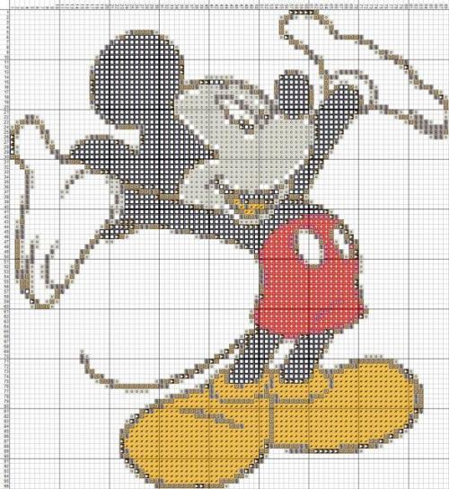 Схемы для вышивки микки маус 31