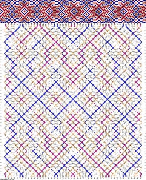как читать схемы плетения